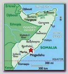 Somalia map, Mogadishu