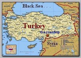 Turkey map, Gaziantep