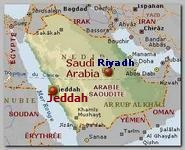 Saudi Arabia map. Jeddah