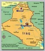 Iraq, Mosul map
