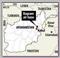 Bagram air base, Afghanistan map