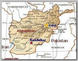 Kandahar, Afghanistan map