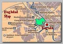 Baghdad map, Karada
