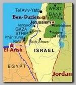 Sinai, El-Arish map